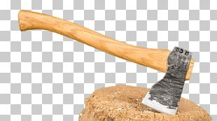 Axe In Log PNG