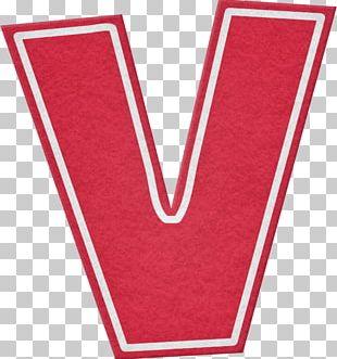Letter Alphabet Red V Font PNG