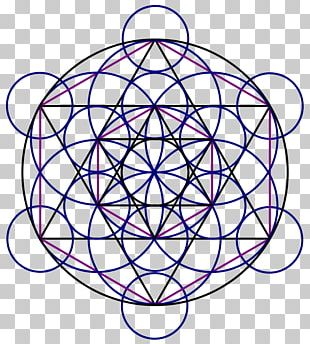 Long-sleeved T-shirt Sacred Geometry Overlapping Circles Grid Metatron PNG