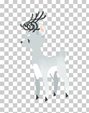 Reindeer Horse Antler Cartoon Mammal PNG
