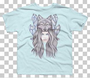 T-shirt Gray Wolf Art Drawing Watercolor Painting PNG