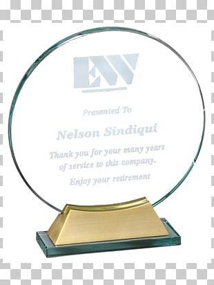 Trophy Glass Award Commemorative Plaque Medal PNG