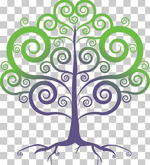 Floral Design Line Art Leaf Pattern PNG