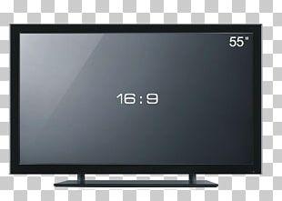 LED-backlit LCD Video Card Television Set LCD Television Liquid-crystal Display PNG
