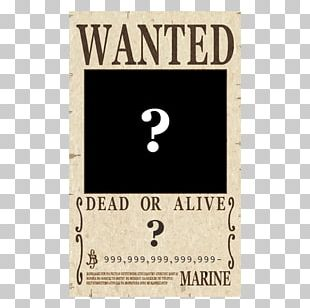 Monkey D. Luffy Wanted! Gol D. Roger Brook Wanted Poster PNG