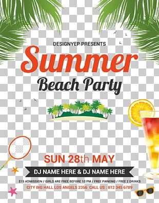 Blenheim Free Party Flyer Beach PNG