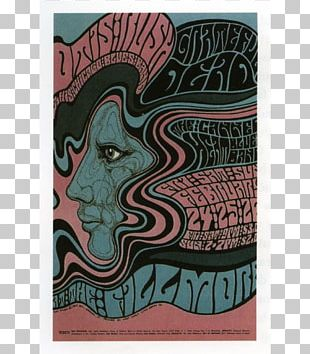 The Fillmore Poster Artist Psychedelic Art Graphic Design PNG