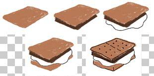 S'more Fudge Chocolate Drawing Graham Cracker PNG