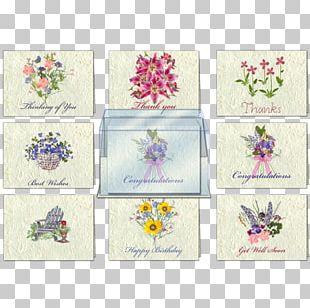 Floral Design Place Mats Rectangle PNG