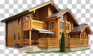 Log Cabin House Home Building PNG
