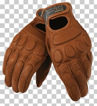 Motorcycle Leather Gloves PNG