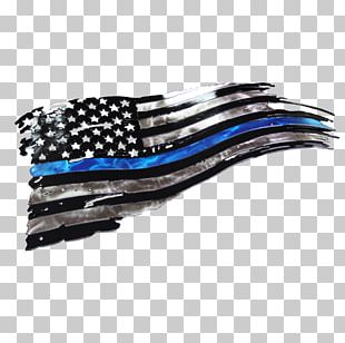 West Texas Plasma Thin Blue Line Flag Of The United States PNG