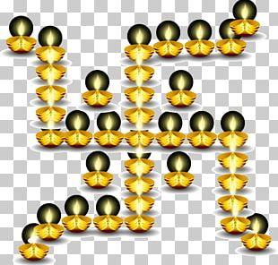 Yellow Recreation Circle Pattern PNG
