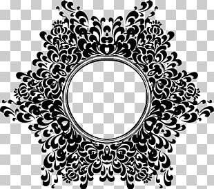 Medieval Design Vintage Floral Design PNG