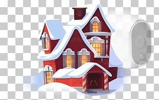 Santa Claus Snow Globes Christmas Gingerbread House PNG