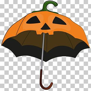 Halloween Pumpkin Umbrella Candy Corn PNG