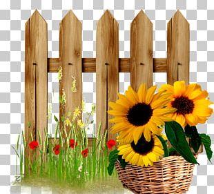 Fence Gate Flower Garden PNG