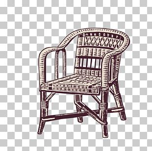 Table Chair Wicker Drawing PNG