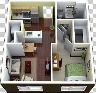 Studio Apartment House Floor Plan PNG