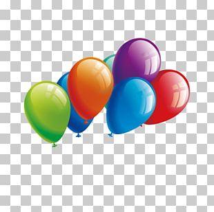 Balloon Plane Birthday PNG