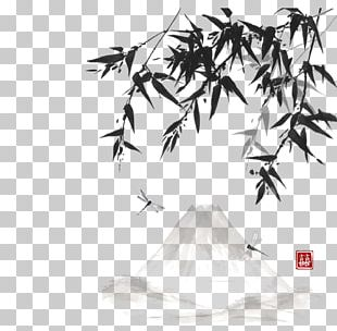 Japan Ink Wash Painting Landscape Painting PNG