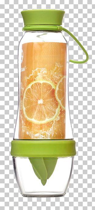 Orange Juice Bottle Drink Glass PNG