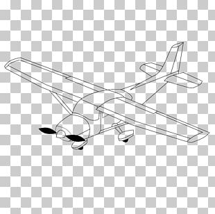 Airplane Drawing Black And White PNG