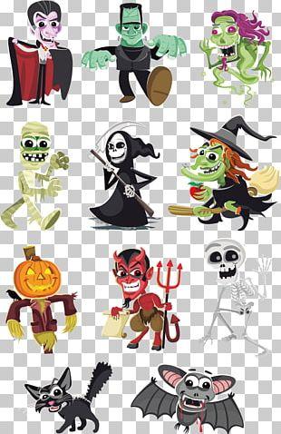 Frankenstein's Monster Halloween Cartoon Character PNG