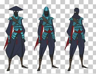 Aragami Video Game Character Model Sheet Concept Art PNG