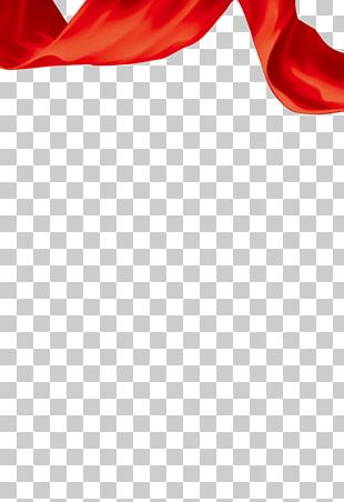 Red Ribbon Silk PNG