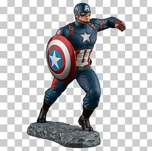 Captain America Iron Man Black Panther Figurine Statue PNG