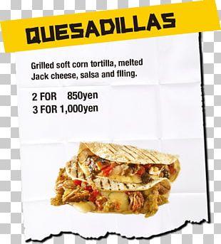 Quesadilla Mexican Cuisine Burrito Salsa Pico De Gallo PNG