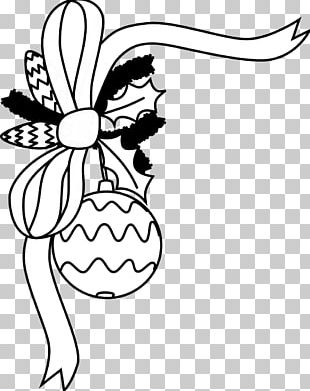 Santa Claus Christmas Ornament Black And White PNG