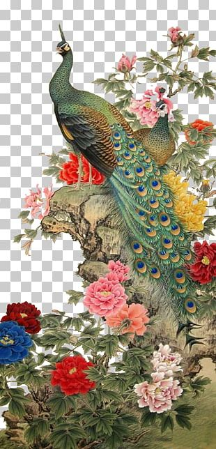 Chinese Painting Gongbi Bird-and-flower Painting PNG