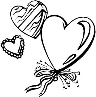 Valentine's Day Coloring Book Heart Gift PNG