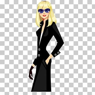 Fashion Model Girl Illustration PNG