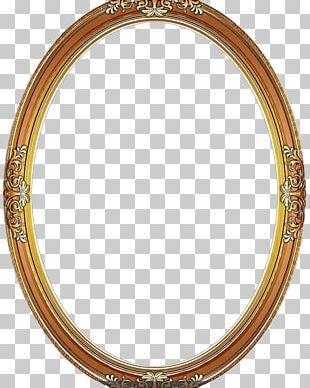 Frame Circle Wood PNG
