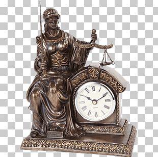 Mantel Clock Quartz Clock Table Lady Justice PNG