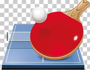 Table Tennis Racket Ball PNG