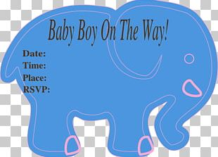 Baby Shower Elephantidae Infant Boy PNG