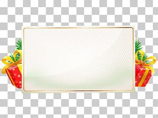 Borders And Frames Christmas Tinsel Frames PNG