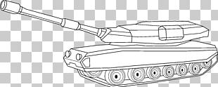 Tank Military Drawing Line Art PNG