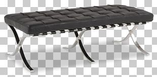 Barcelona Chair Table Foot Rests Stool Barcelona Pavilion PNG