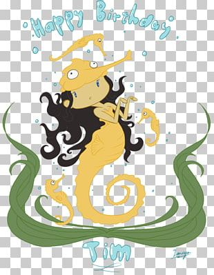 Short-snouted Seahorse Birthday Vertebrate Yellow Seahorse PNG