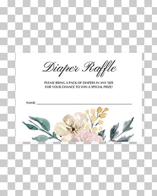 Diaper Wedding Invitation Baby Shower Raffle Party PNG