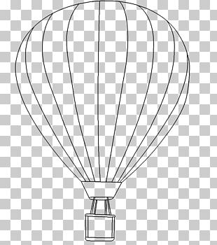 Drawing Hot Air Balloon Line Art Circle PNG