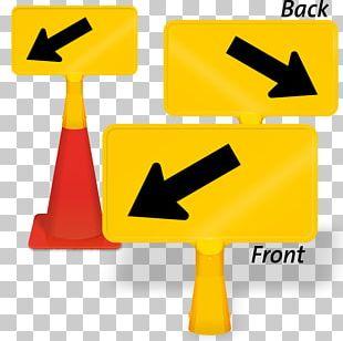 Traffic Sign Signage Warning Sign Car Direction PNG
