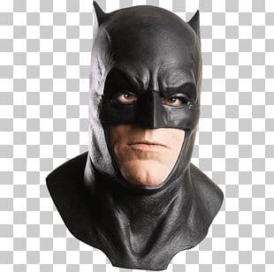 Batman Superman Latex Mask Costume PNG