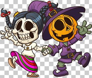 Calavera Day Of The Dead Halloween PNG