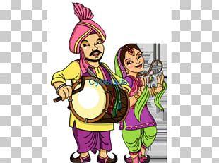 Lohri Dhol Punjabis Bhangra Vaisakhi PNG